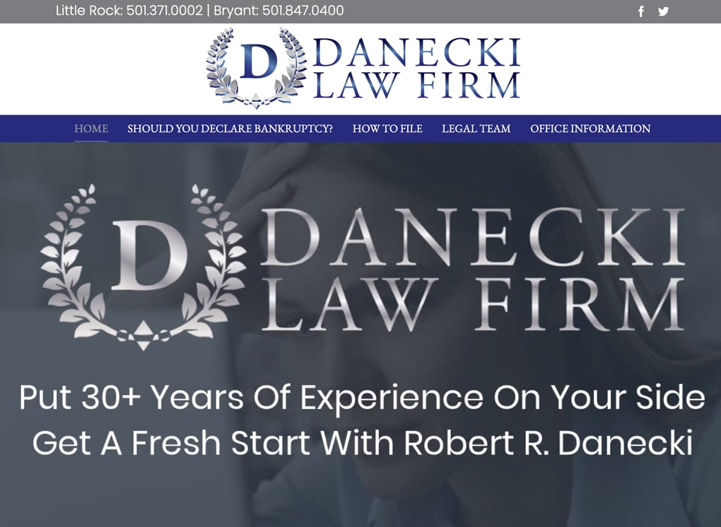 Danecki Law Firm Small Business Website