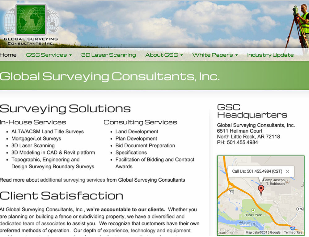 Global Surveying Consultants, Little Rock