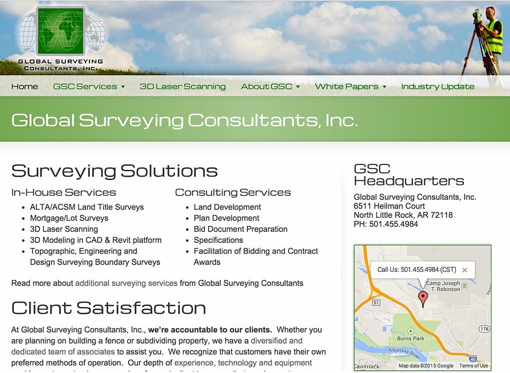 Global 3D Surveying Small Business Website Design Portfolio