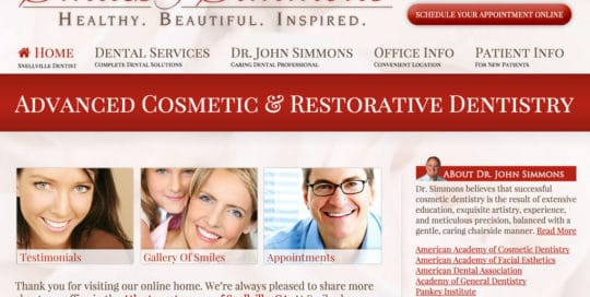 Smiles By Simmons Small Business Website
