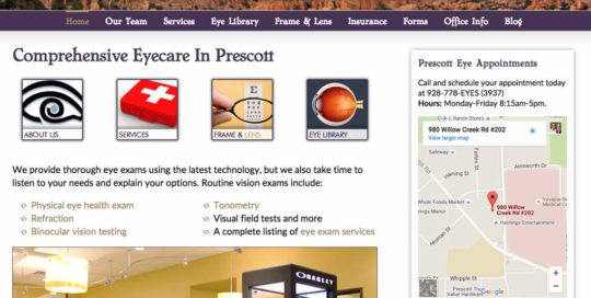 Premier Eye Center Website