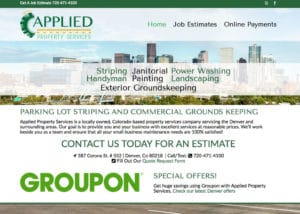 The Affordable Web Guy Small Business Portfolio Example Applied Property Services Denver