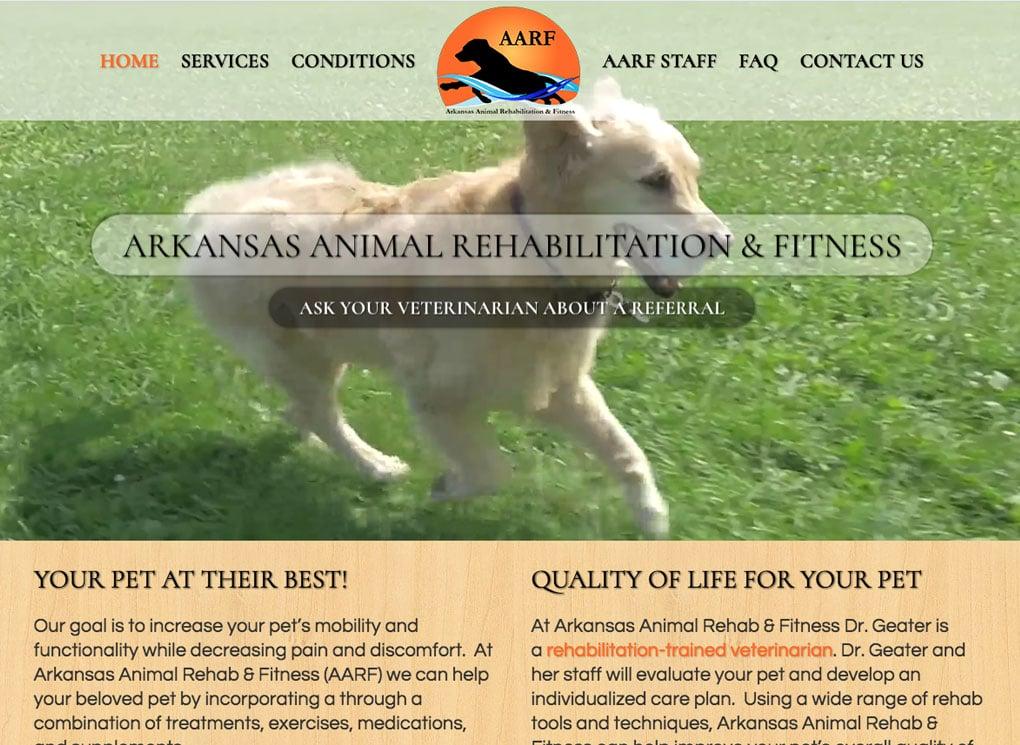 The Affordable Web Guy Small Business Portfolio Example Arkansas Animal Rehab Hospital