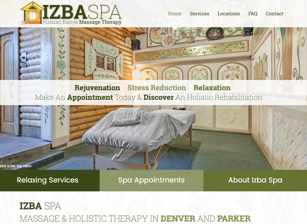 The Izba Spa in Denver and Parker