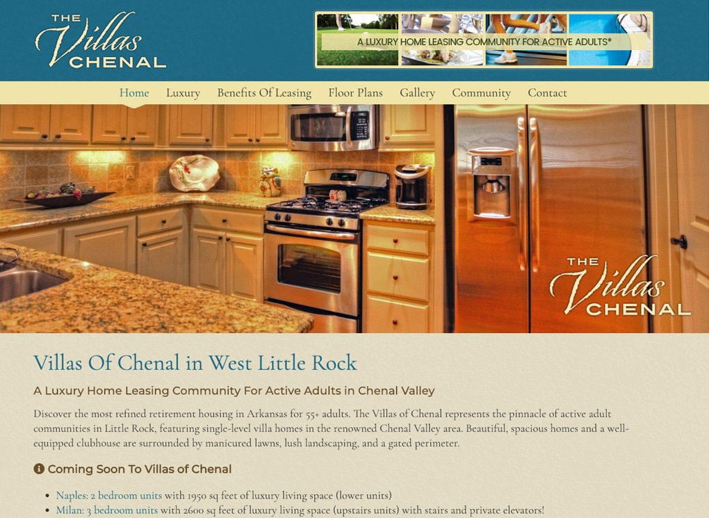 Villas Of Chenal in West Little Rock – The Affordable Web Guy