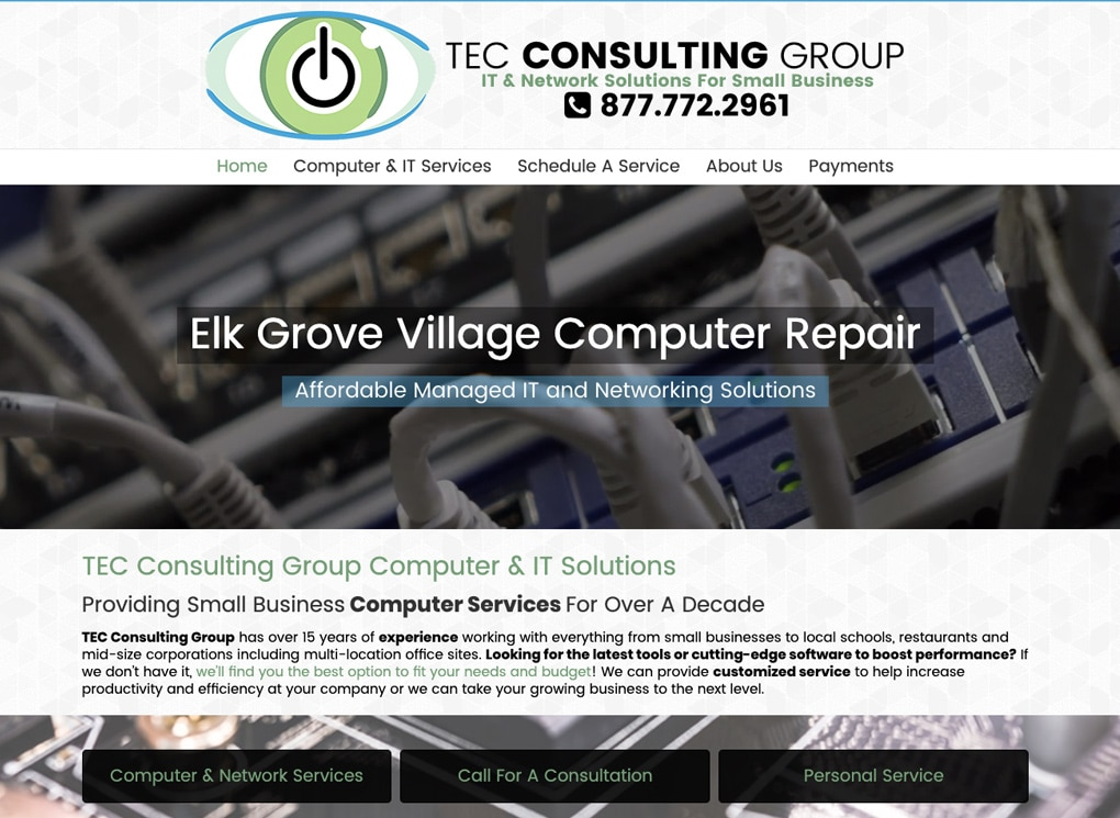 Small Business Website Portfolio: TEC