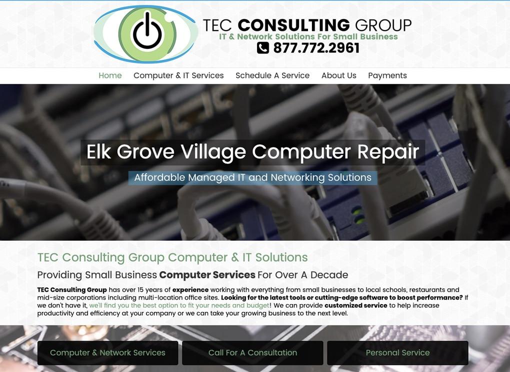 Small Business Website Portfolio: TEC