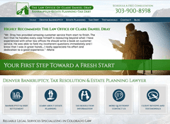 Small Business Website For Clark Dray, Bankruptcy Attorney in Denver