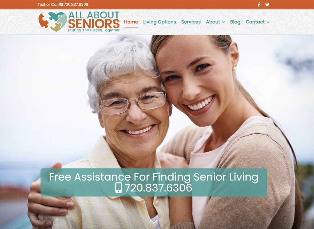 All About Seniors Small Business Website Design Project