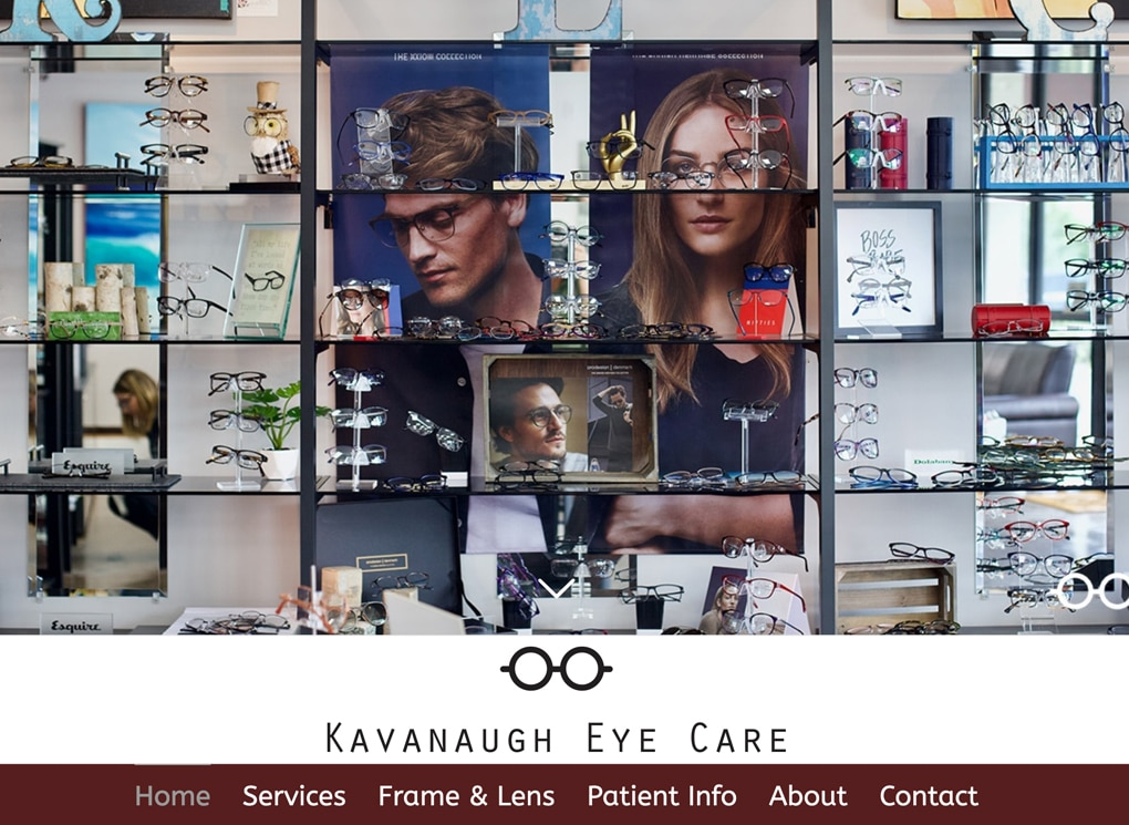 Kavanaugh Eye Care Small Business Website Design Project